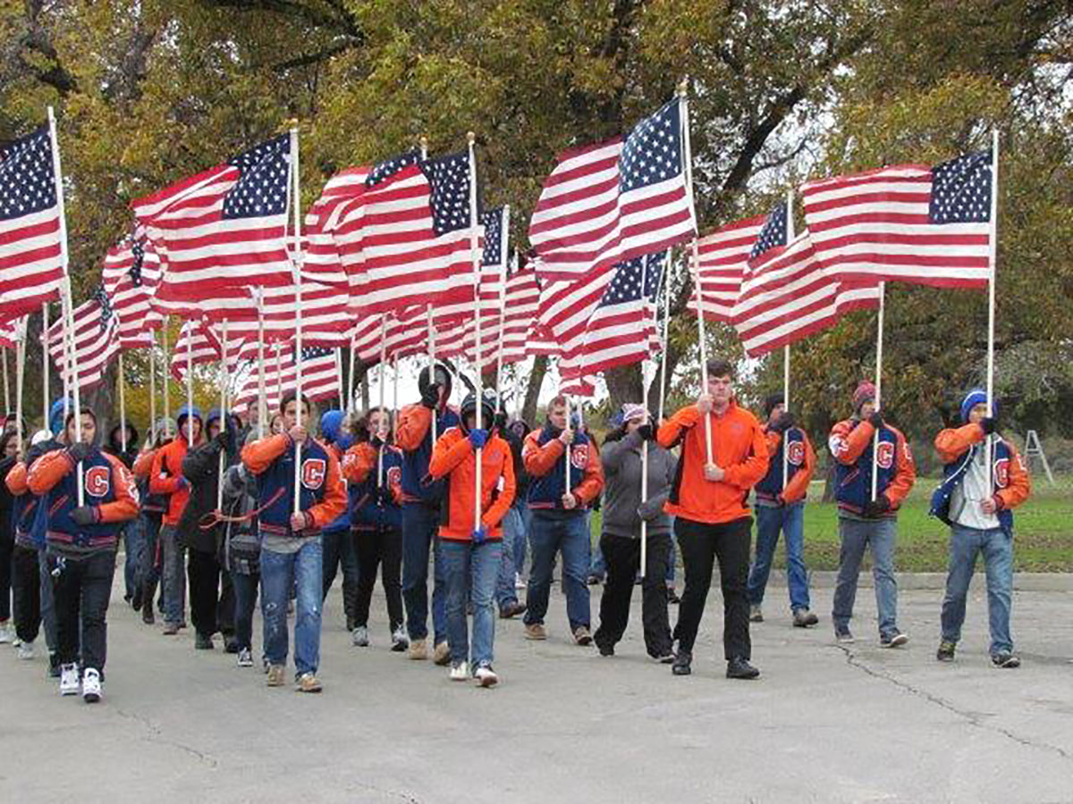 The 2016 parade for the Lone Star Warriors. (Contributed/Kirk Cleere)