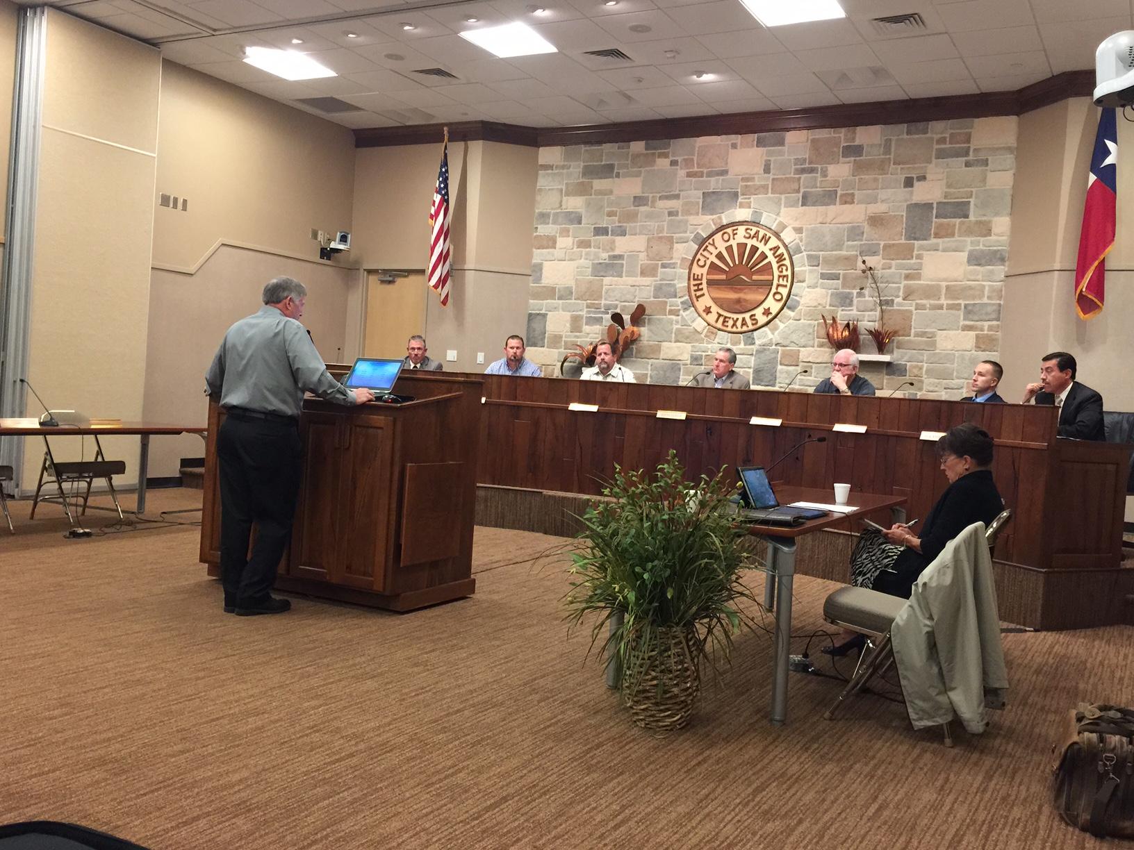 The City of San Angelo Water Advicory Board meets on May 13, 2015. (LIVE! Photo/Amanda Henson)
