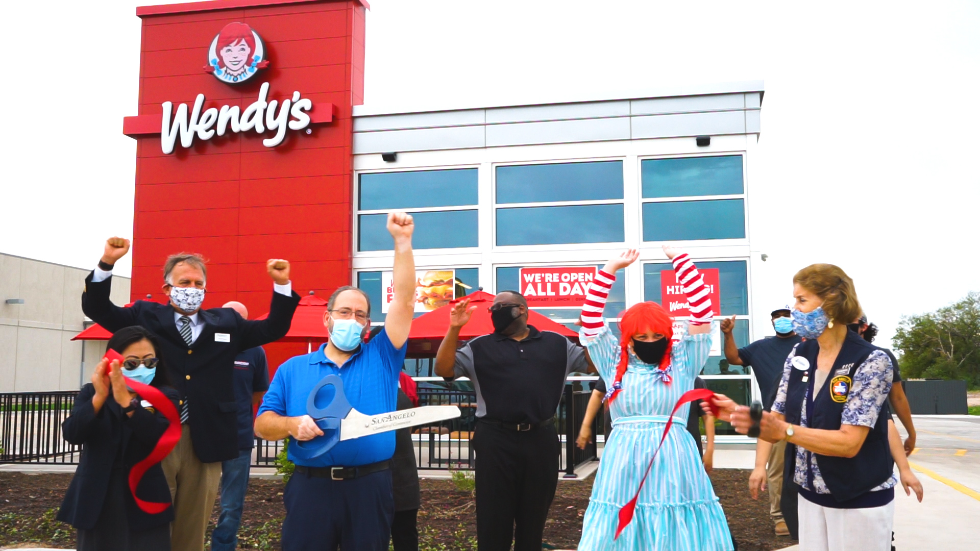 San Angelo Chamber of Commerce Welcomes the New Wendy's (LIVE! Photo/Matt Trammell)