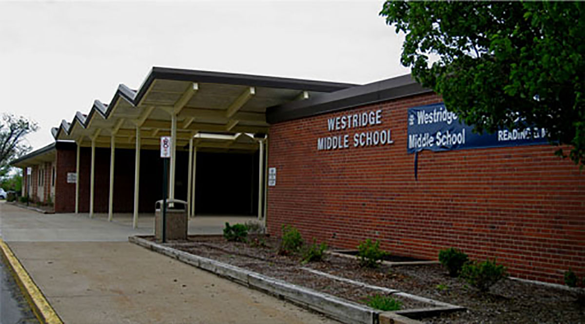 Westridge Middle School in Overland Park, Kansas