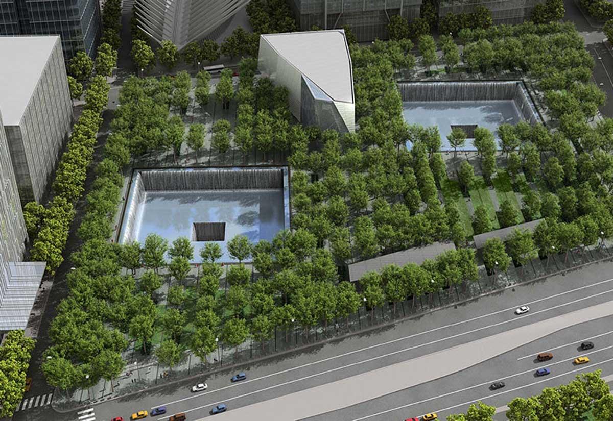 The World Trade Center memorial