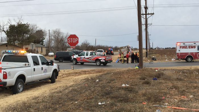 Fatal crash on Fm 2641 and CR 1700 (Photo Courtesy of KCBD)