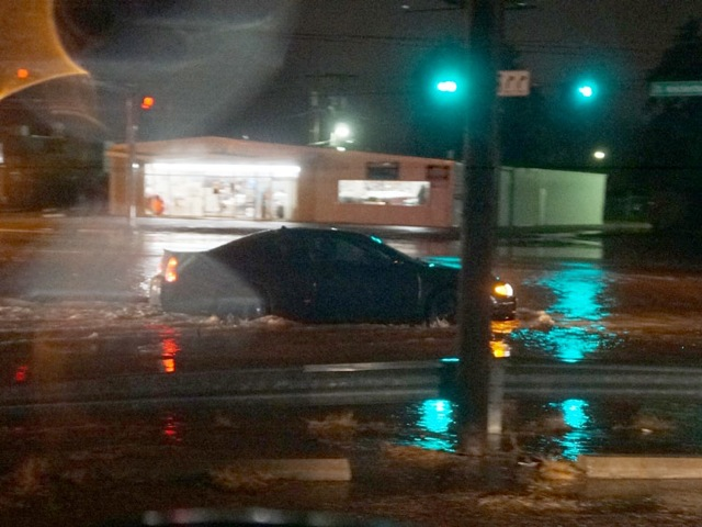 Johnson Street at Knickerboacker Road. (LIVE! Photo/John Basquez)