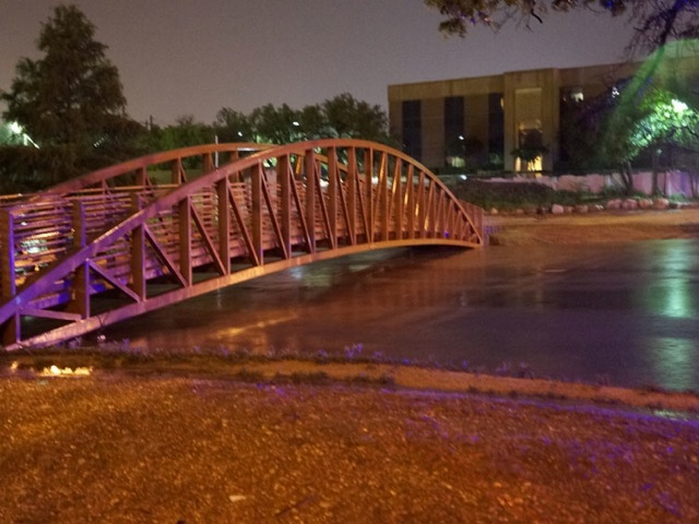 The decorative bridge across the Concho River near Crockett National Bank. (LIVE! Photo/John Basquez)