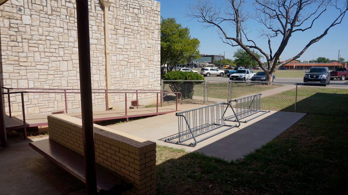 Aftermarket ADA ramps at McGill Elementary School. (LIVE! Photo/Joe Hyde)