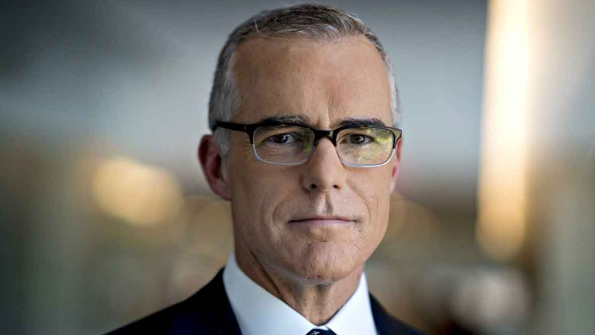 Andrew 'The Russians Did It' McCabe, who was fired by the FBI last year for lying under oath.