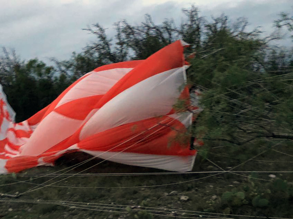The NASA SuperBIT balloon landed on the Espy Ranch in Fort Mckavett on June 6, 2018. (Contributed/Tammie Baze)