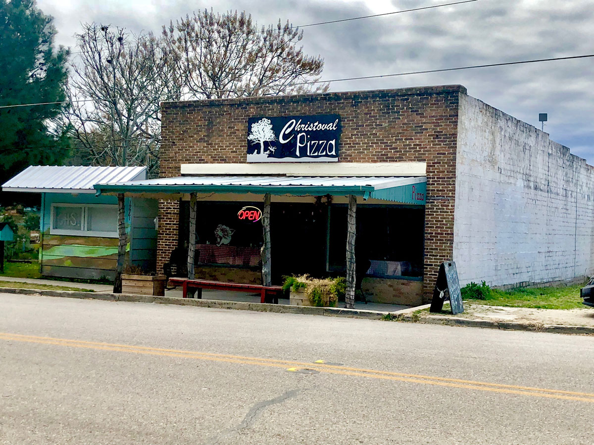 The Christoval Pizza Parlor in downtown Christoval, Texas. (LIVE! Photo/Sam Fowler)