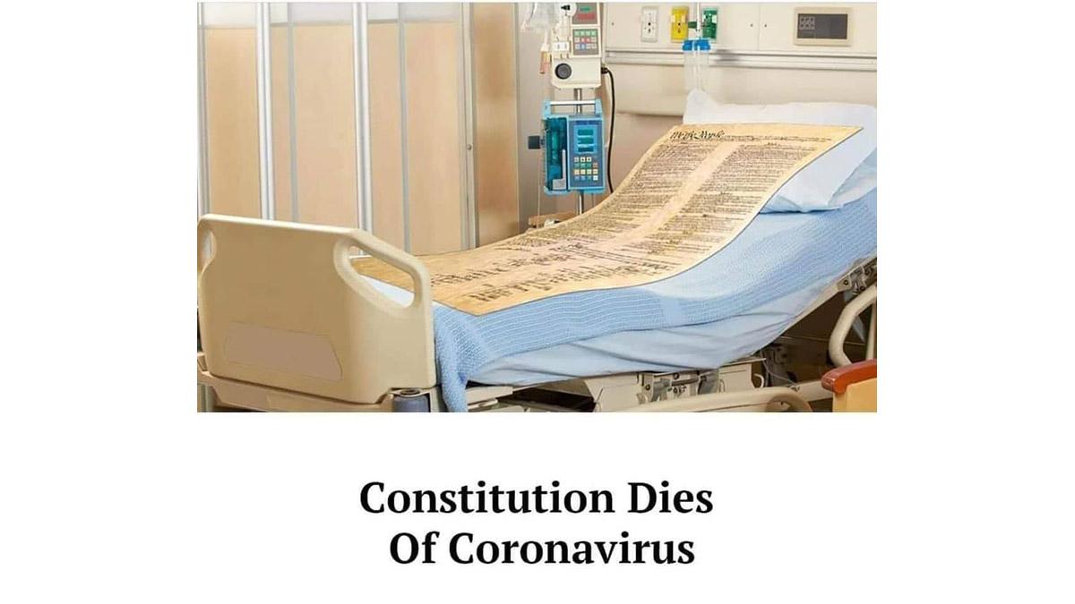 The Constitution dies of the coronavirus