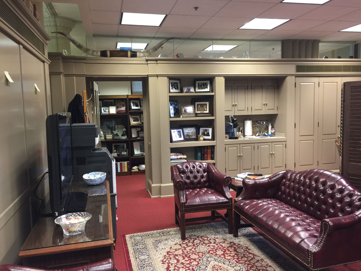 The offices of State Rep. Drew Darby at the State Capitol. (LIVE! Photo/Yantis Green)