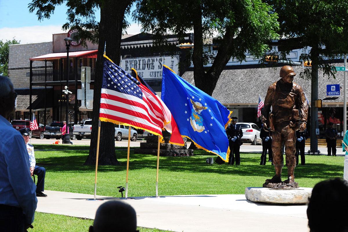 The statue of Earl Rudder in Brady Square, Brady, Texas. (Brady Standard-Herald)