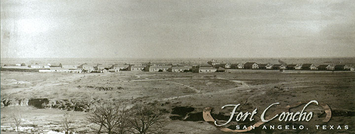 An image of Ft. Concho in 1885, image warbirdsandairshows.com.