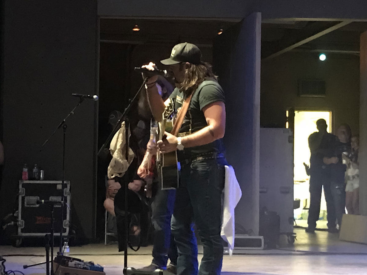 Koe Wetzel at the San Angelo RiverStage on Aug. 3, 2018. (LIVE! Photo/Kourtni Fields)