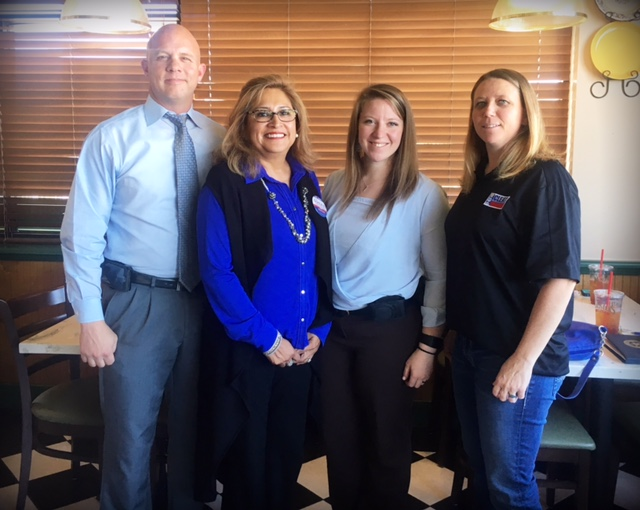 Sergeant Doug Thomas, Lucy Gonzales, Detective Kelli Reeves, Sergeant Kelly Lajoie. (Contributed/SACOP)