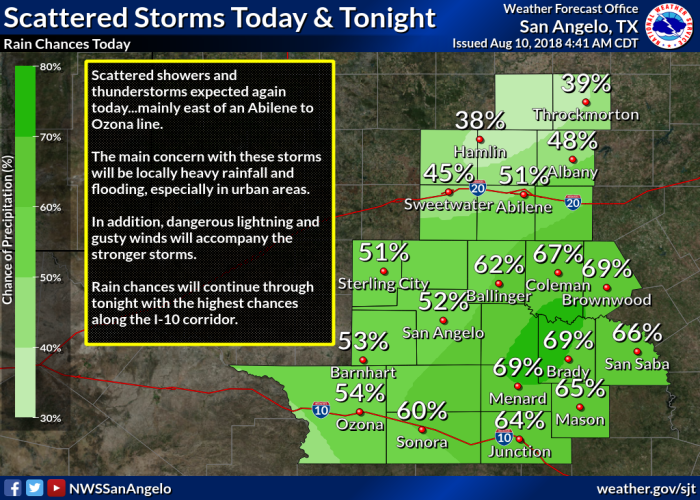 NWS Weather Graphic.