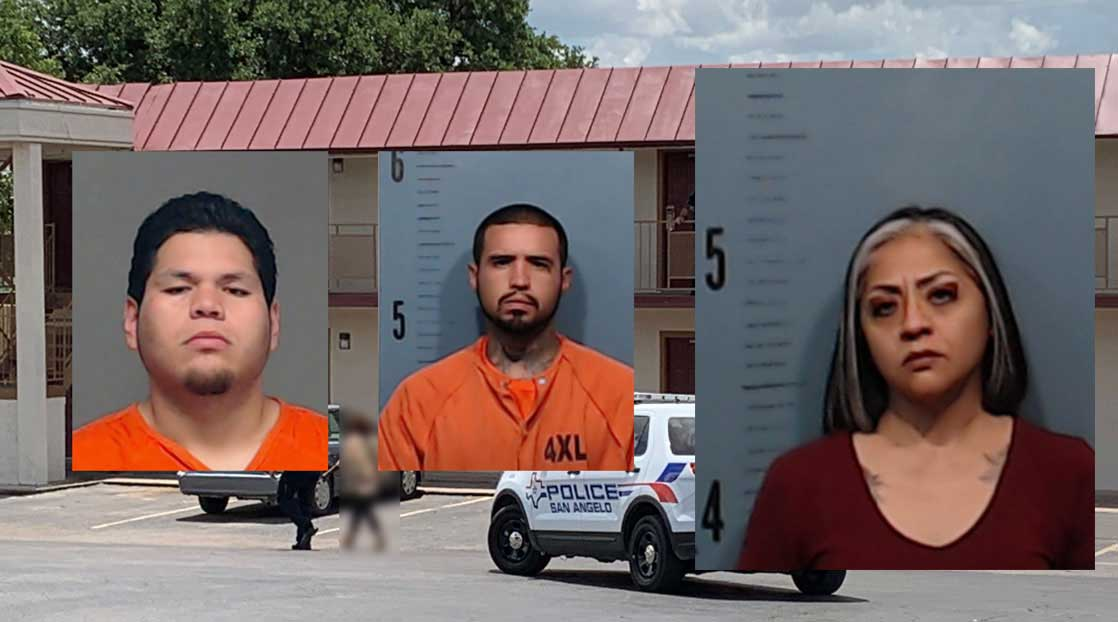 Jennifer Badillo (right) with two men arrested in connection with the murder, Daniel Diaz and Jessie Robinson.