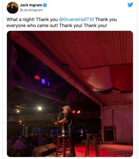 Gruene Hall Reopens (Jack Ingram/Twitter)