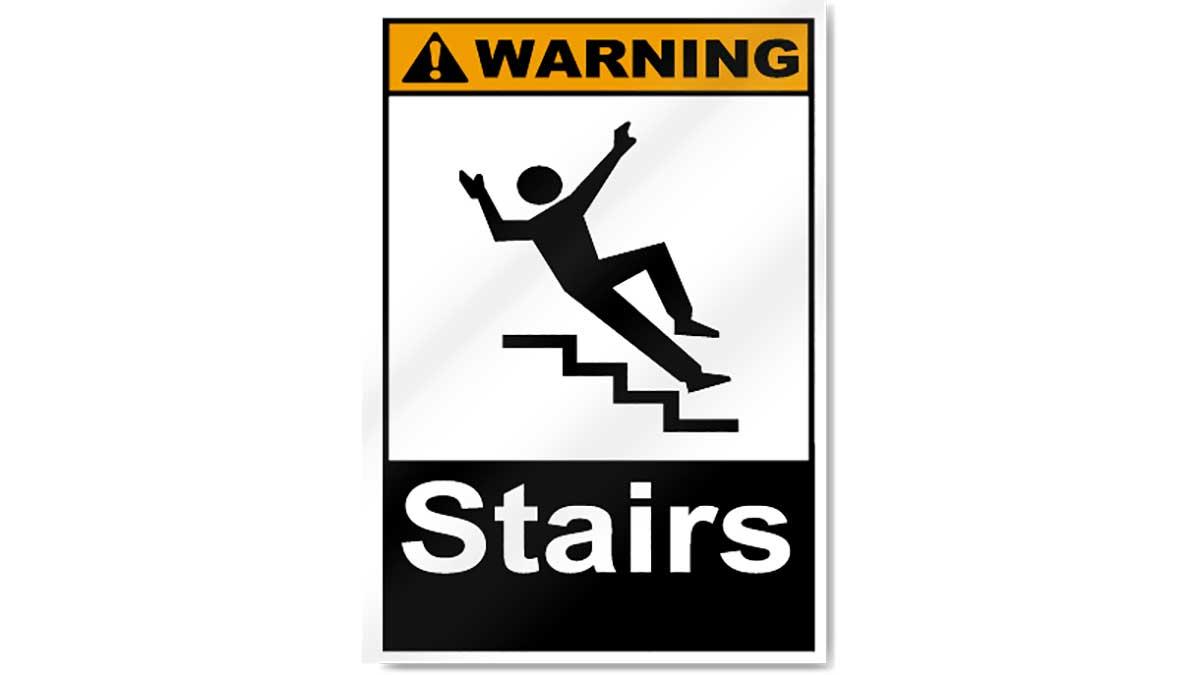 Stairs warning