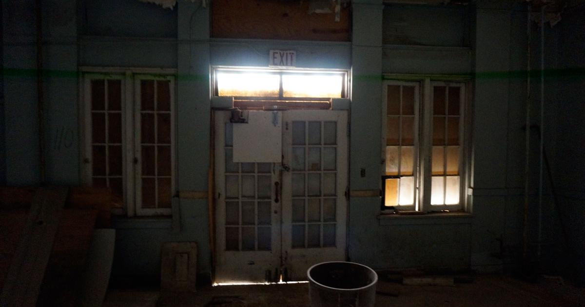 The interior of the entrance to the old drug store that was located on the southwest corner of the old Roosevelt. (LIVE! Photo/Joe Hyde)