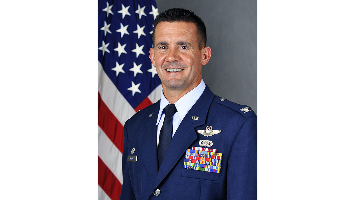 Col. Charles Velino, the former commander of the 47 FTW. (US Air Force photo)