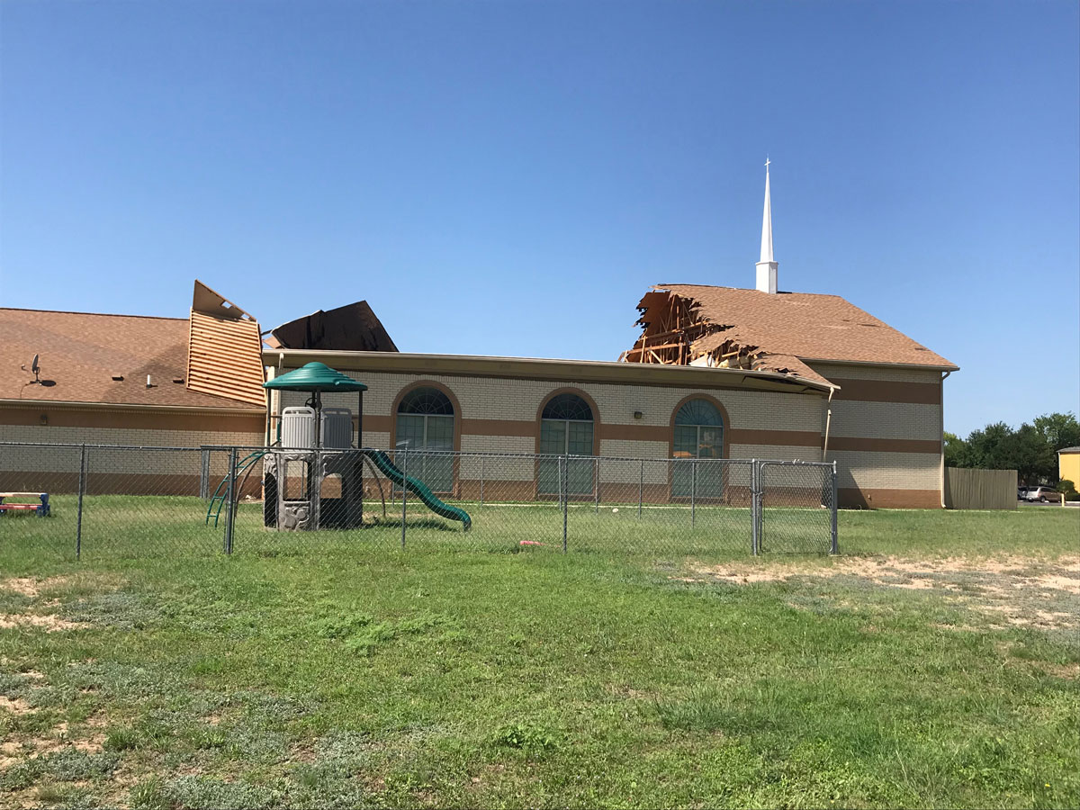 The Victory Christian Center collapsed on May 25, 2018. (LIVE! Photo/Zoey Hanrahan)