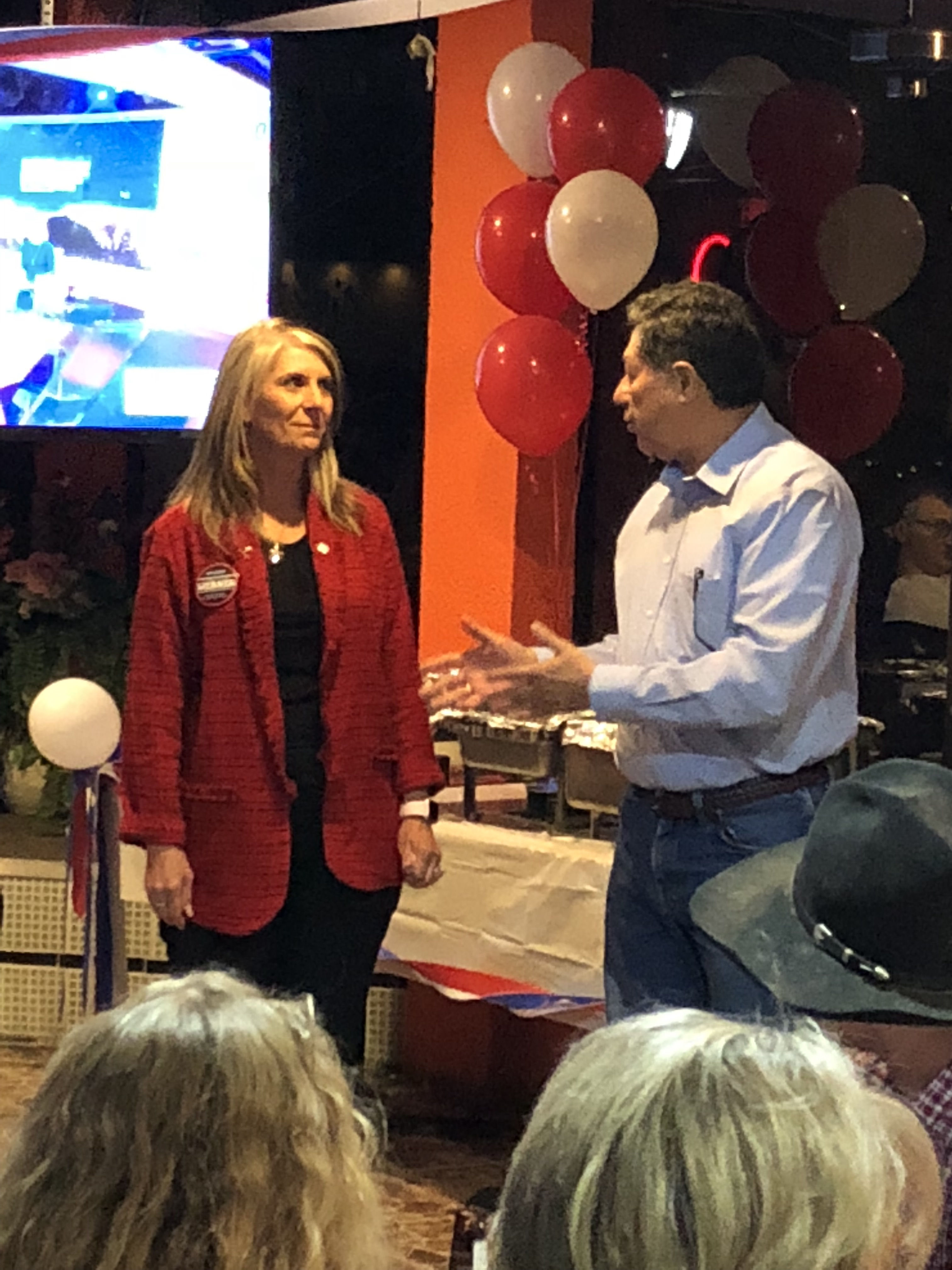 Republican activist and leader of the Pachyderm Club Fred Contreras reminds crowd of his club's endorsement. Saying Susan Werner is the only JP candidate they know of to ever have ten years experience as a first time candidate.
